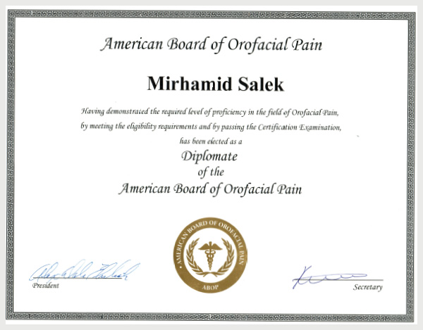 american board of orofacial pain